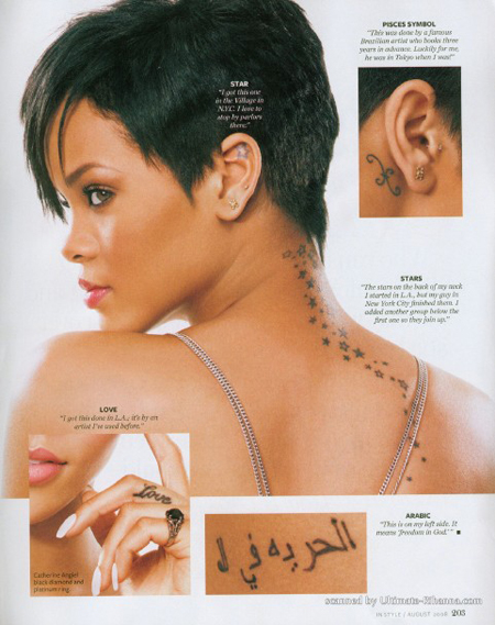 She So Ghetto Rihanna InStyle Tattoo Collection