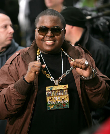 Sean Kingston With His Crayon Bling